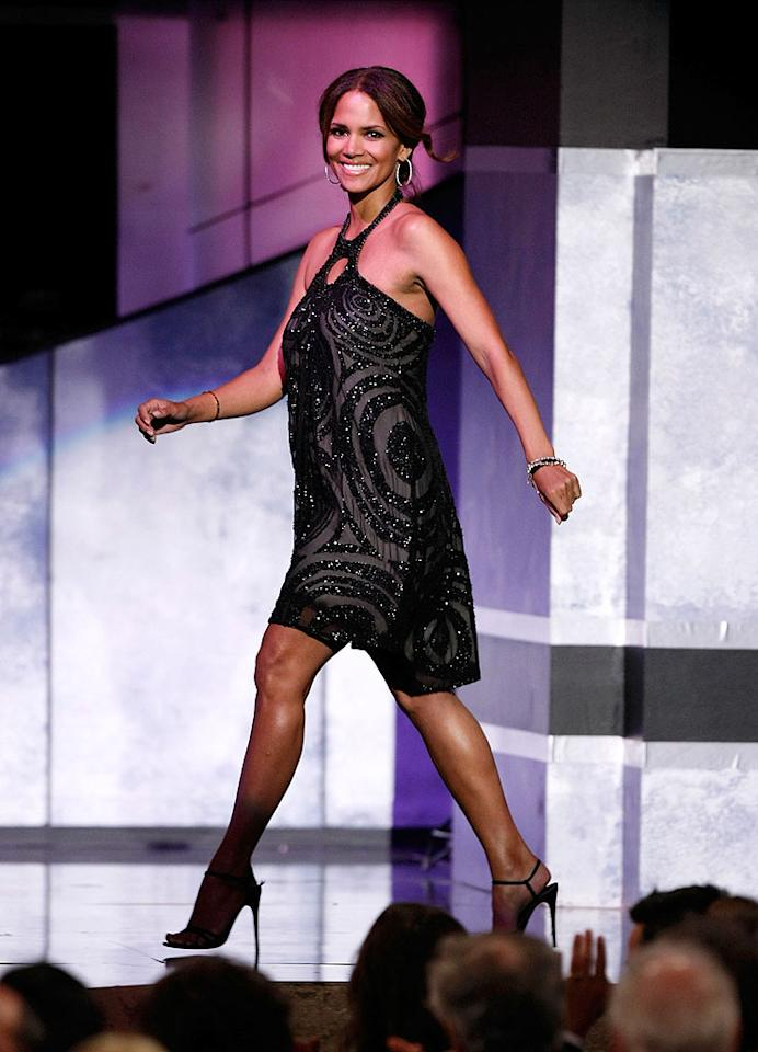 """The heavenly Halle Berry attends the 36th annual AFI Lifetime Achievement Award tribute to Warren Beatty at the Kodak Theater in Hollywood. Kevin Winter/<a href=""""http://www.gettyimages.com/"""" target=""""new"""">GettyImages.com</a> - June 12, 2008"""