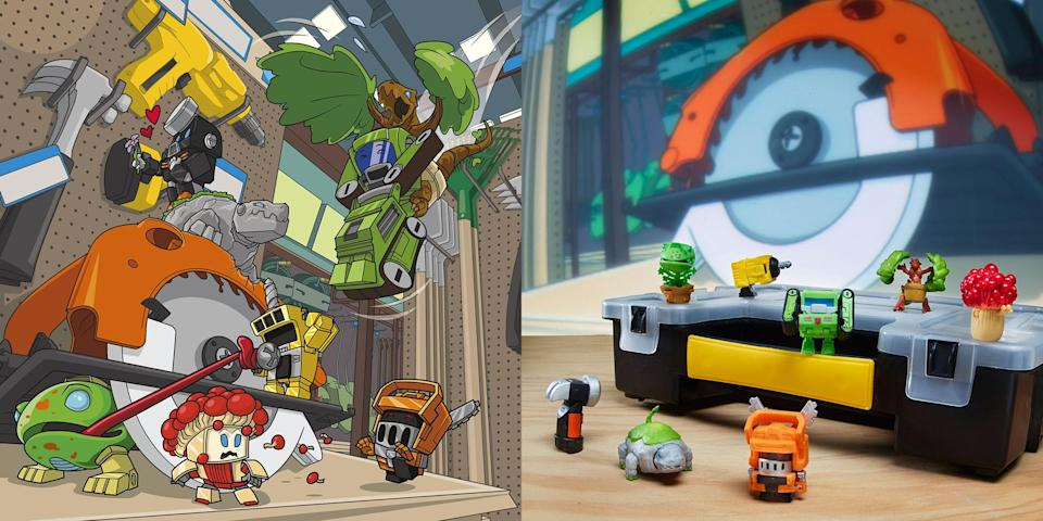 Series 1: Shed Heads – BOTBOTS Series 1 features 61 characters across 3 assortments: blind bag assortment, 5-pack assortment, and 8-pack assortment. (Each sold separately. Subject to availability). Available at most good retailers. (Hasbro)
