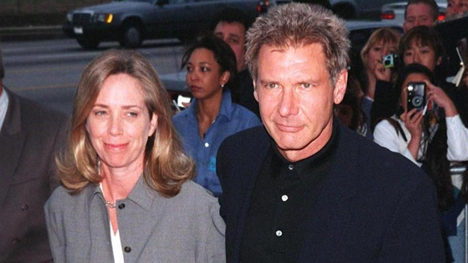 08JUN98: Actor HARRISON FORD & wife MELISSA MATHISON at premiere, 12 of the Most Expensive Celebrity Divorces to Rock Hollywood, Six Days, Seven Nights, in which he stars with Anne Heche.