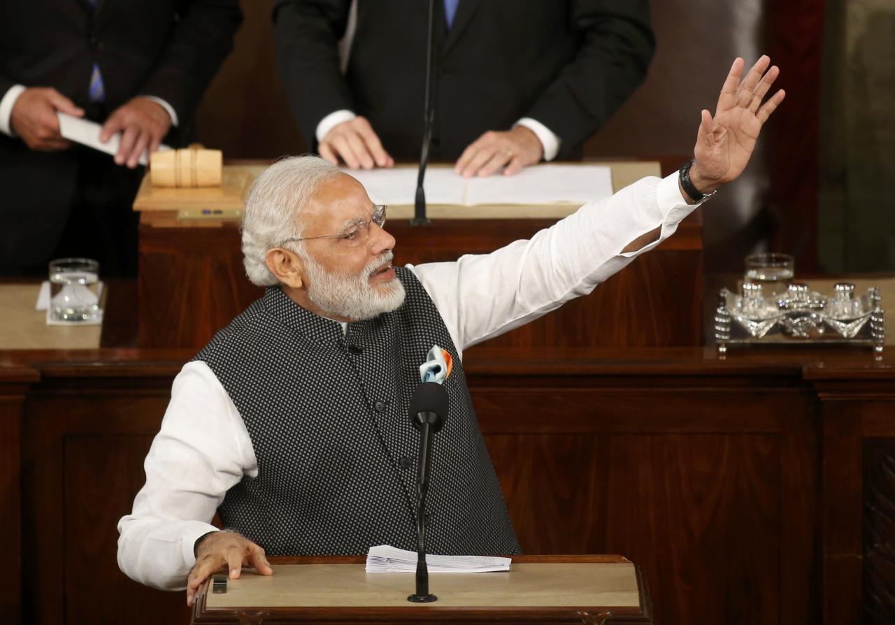 Photos pm modi mesmerises us congress receives rousing - Prime minister of india office address ...