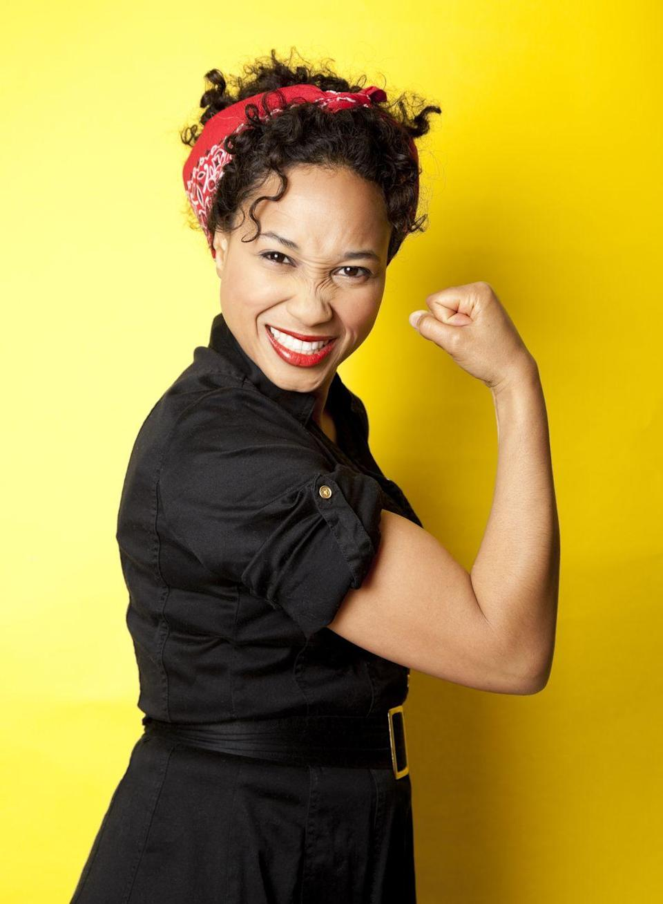 """<p>A WWII culture icon, Rosie the Riveter is one of the easiest costumes to make last minute. All you need is a denim shirt and a red bandana headband. </p><p><a class=""""link rapid-noclick-resp"""" href=""""https://www.amazon.com/Shimmer-Anna-Shine-Matching-Headbands/dp/B07BDQS331/?tag=syn-yahoo-20&ascsubtag=%5Bartid%7C10070.g.490%5Bsrc%7Cyahoo-us"""" rel=""""nofollow noopener"""" target=""""_blank"""" data-ylk=""""slk:SHOP BANDANAS"""">SHOP BANDANAS</a></p>"""