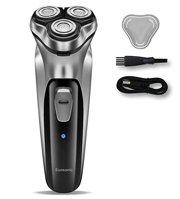 <p>Give the gift of a smooth post-Movember face with a <span>Sunsonic Electric Razor</span> ($16), which ensures a clean shave regardless of whether they remember to charge it in advance.</p>