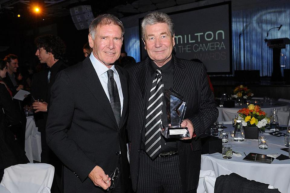 Harrison Ford and Vic Armstrong together at an awards show