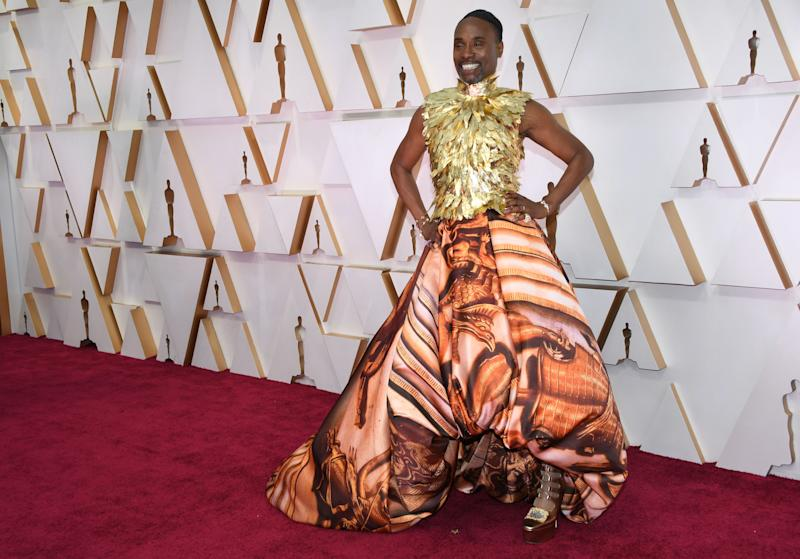 Billy Porter wore a look inspired by the British royal family to the 2020 Oscars [Photo: Getty]