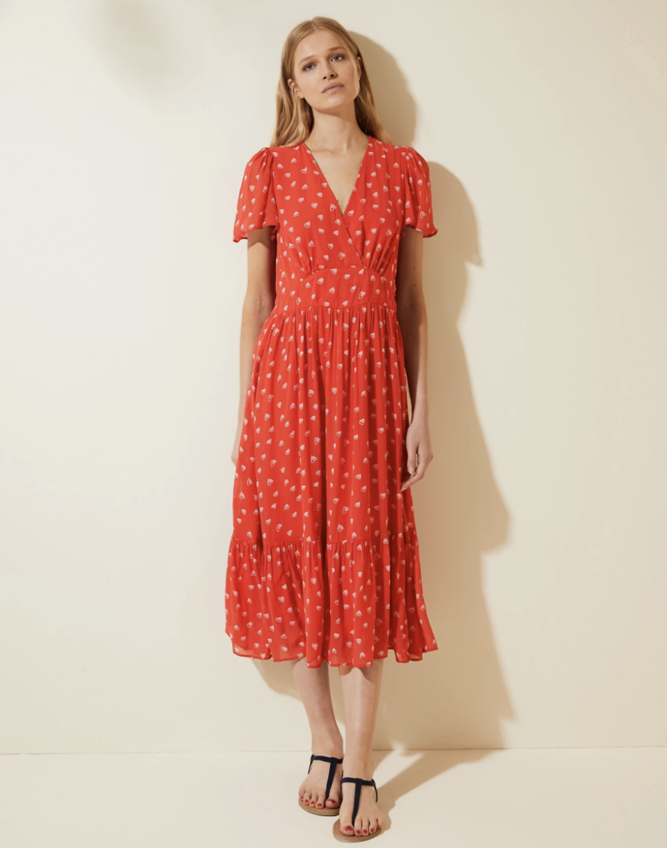 The M&S Ghost dress we want to add to our wardrobe ASAP. (Marks & Spencer)