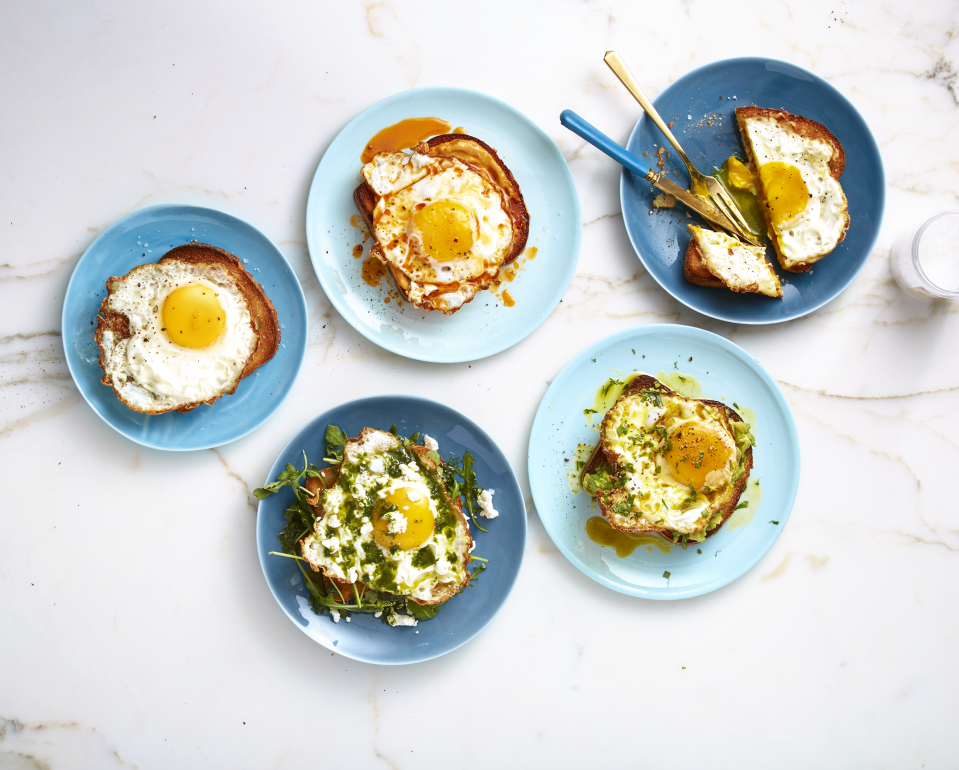 """<p>Eggs are the official star VIP at our breakfast table — there are so many reasons why we <em>love</em> them. They're cheap, always versatile, and most of all, they're <a href=""""https://www.goodhousekeeping.com/health/diet-nutrition/a48023/egg-nutrition/"""" rel=""""nofollow noopener"""" target=""""_blank"""" data-ylk=""""slk:chock full of good-for-you protein"""" class=""""link rapid-noclick-resp"""">chock full of good-for-you protein</a>, making them a fantastic choice to supercharge your morning. But while home cooks factor eggs <a href=""""https://www.goodhousekeeping.com/food-recipes/g26255008/best-grocery-shopping-list-apps/"""" rel=""""nofollow noopener"""" target=""""_blank"""" data-ylk=""""slk:into their shopping budget"""" class=""""link rapid-noclick-resp"""">into their shopping budget</a> and nearly always enjoy their protein boost, some may be still searching for inspiration on new ways to regularly enjoy them. If you're looking to break out of your <a href=""""https://www.goodhousekeeping.com/food-recipes/cooking/g4678/how-to-cook-bacon/"""" rel=""""nofollow noopener"""" target=""""_blank"""" data-ylk=""""slk:scrambled-eggs-and-bacon shell"""" class=""""link rapid-noclick-resp"""">scrambled-eggs-and-bacon shell</a>, you'll want to try one of these equally delicious and easy egg dishes.</p><p>Most people don't realize there are eight different ways to cook eggs, all with varying difficulty for first timers. Scrambling and hard frying are two easy ways to <a href=""""https://www.goodhousekeeping.com/food-recipes/easy/a35092147/how-to-make-scrambled-eggs-recipe/"""" rel=""""nofollow noopener"""" target=""""_blank"""" data-ylk=""""slk:quickly get breakfast on the table"""" class=""""link rapid-noclick-resp"""">quickly get breakfast on the table</a> during a hectic work week; but mastering the art of over-easy eggs isn't far off. For make-ahead fans and those who meal prep in advance, <a href=""""https://www.goodhousekeeping.com/food-recipes/cooking/tips/a19189/cooking-perfect-hard-boiled-eggs/"""" rel=""""nofollow noopener"""" target=""""_blank"""" data-ylk=""""slk:hard-boiled eggs are a mu"""