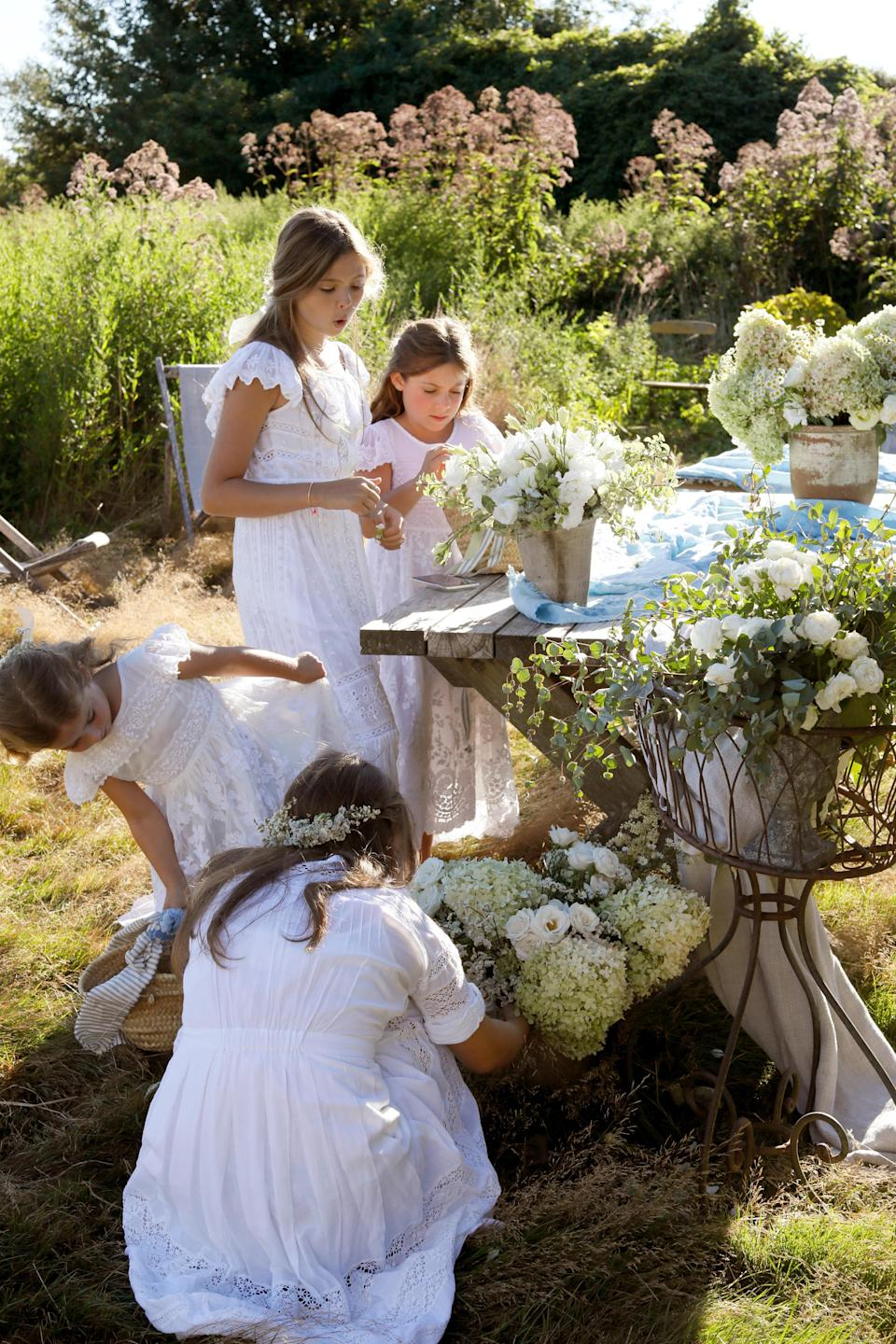 """""""They take the task of flower girl very seriously, attention to detail runs in the family!"""" Dean says. """"Family friend Piper Clurman, daughter of Wendy Hirschberg Clurman, who was a former fashion market director at <em>Vogue</em>, helps gather petals."""""""