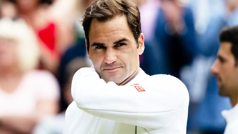Roger Federer (pictured) looking frustrated after losing the Wimbledon final.
