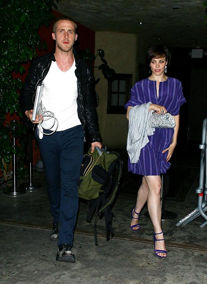 "Former flames Ryan Gosling and Rachel McAdams were spotted leaving a Hollywood nightclub together on Wednesday. Have the ""Notebook"" costars rekindled their romance? <a href=""http://www.x17online.com"" target=""new"">X17 Online</a> - July 30, 2008"