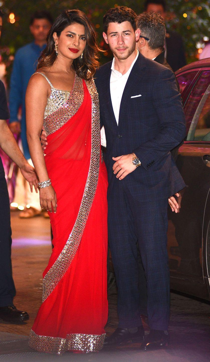 <p>The couple attend a wedding together in Mumbai.</p>