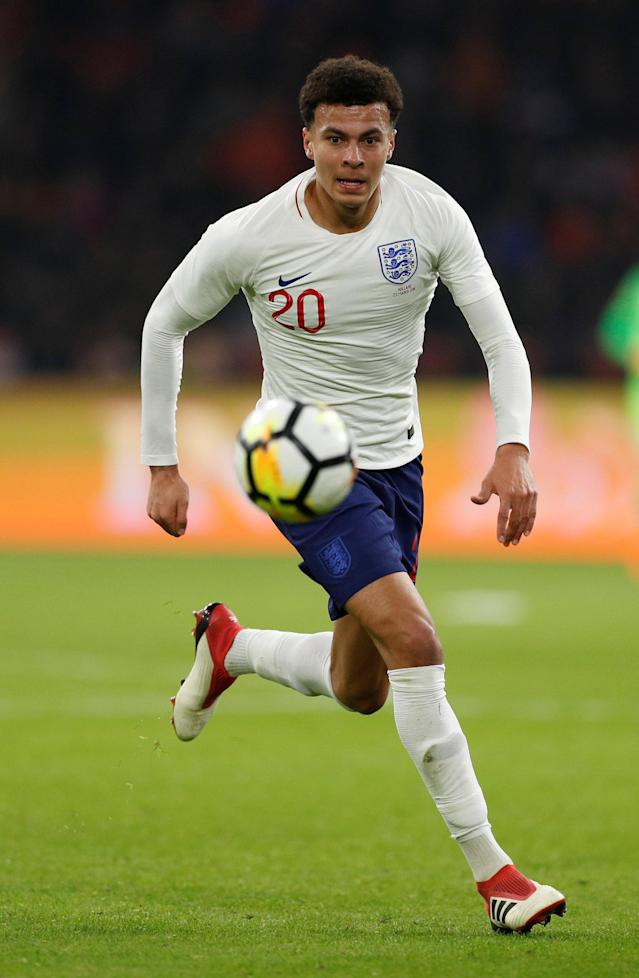 Soccer Football - International Friendly - Netherlands vs England - Johan Cruijff Arena, Amsterdam, Netherlands - March 23, 2018 England's Dele Alli Action Images via Reuters/John Sibley