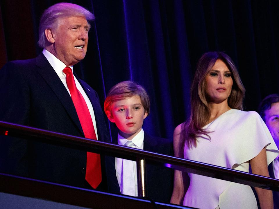 Barron Trump, the youngest child of President Donald Trump