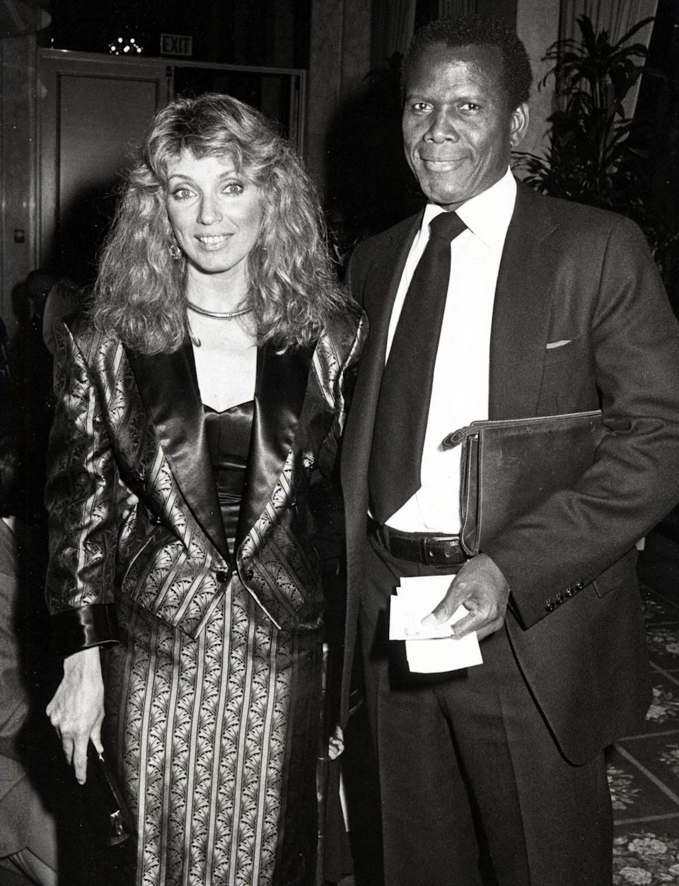 <p>With wife Joanna Shimkus at the Neighborhood of Watts Benefit Dinner at Beverly Wilshire Hotel in Beverly Hills in 1984. Still married, together they have two daughters. </p>