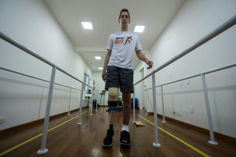 After surviving a plane crash which wiped out his club, Jakson Follmann, the reserve goalie for Brazilian team Chapecoensea, is drawing on all his competitive spirit and discipline to rebuild his life