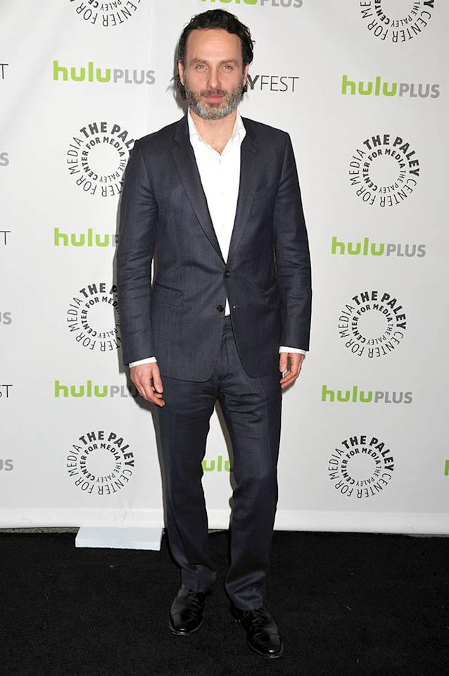 "Andrew Lincoln attends the 30th Annual PaleyFest featuring the cast of ""The Walking Dead"" at Saban Theatre on March 1, 2013 in Beverly Hills, California."