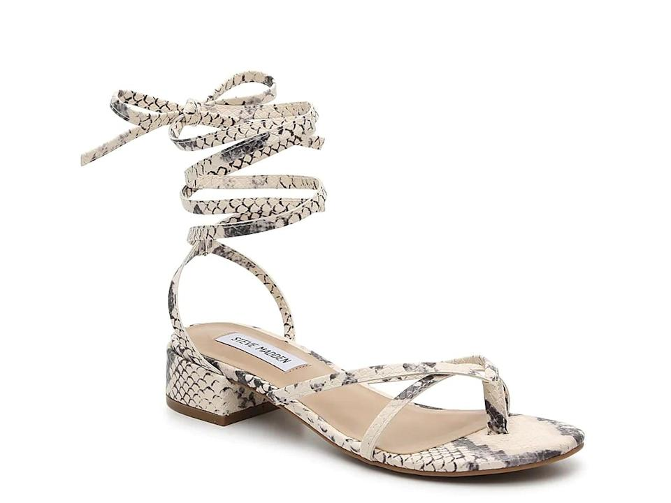 <p>If you're looking for a strappy choice, then try the <span>Steve Madden Ryee Sandals</span> ($60). They come in two other color choices too.</p>