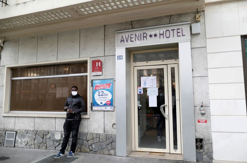 Pandemic silver lining: empty Paris hotel shelters the homeless