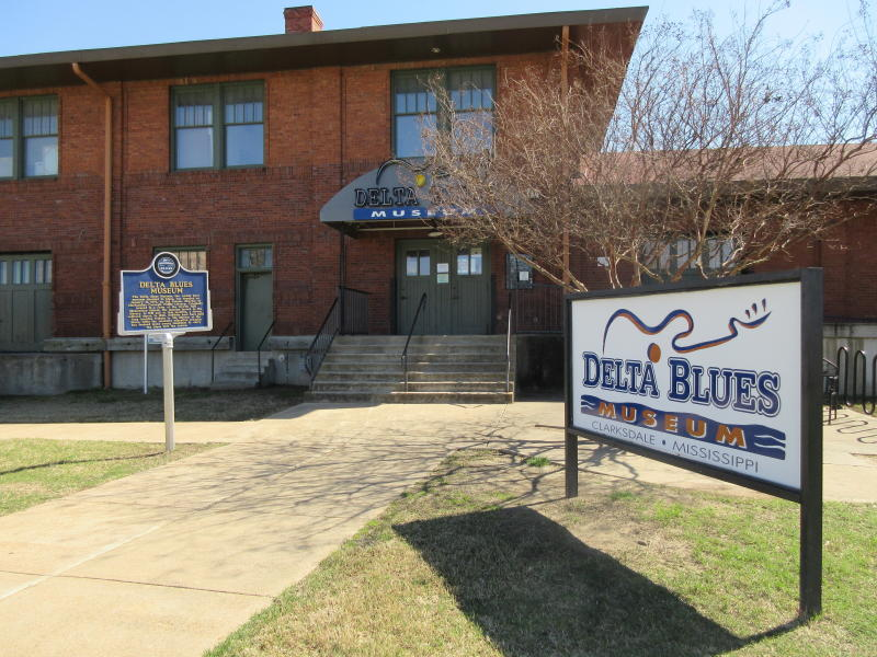 This March 10, 2017 photo shows the Delta Blues Museum in Clarksdale, Miss. It's one of a number of museums, historic sites and other attractions in the Delta that explores the region's rich musical history. (AP Photo/Beth J. Harpaz)