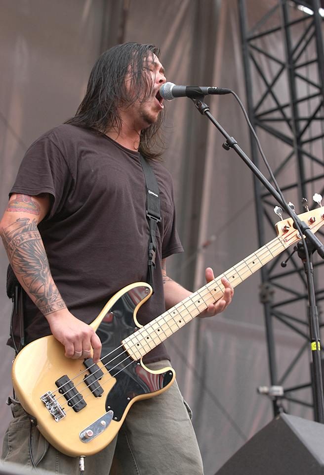 Chi Cheng of Deftones during K-Rock DFP-7-Tarium at Giants Stadium in E. Rutherford, New Jersey, United States. (Photo by Theo Wargo/WireImage)