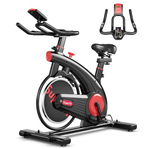 SuperFit Stationary Indoor Cycling Bike. Image via Best Buy.