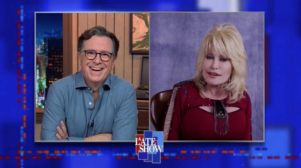 """Stephen Colbert's remote October interview with Dolly Parton became the new norm on CBS's """"Late Show"""" and other late-night talk shows."""