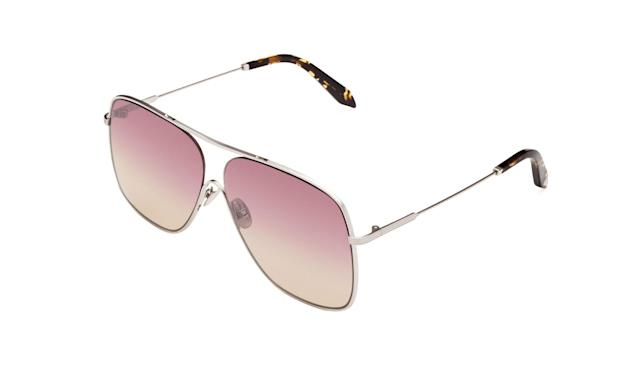 "Victoria Beckham Loop Navigator sunglasses, $425, <a href=""https://www.olivela.com/products/victoriabeckham-loopnavigator-10668"" rel=""nofollow noopener"" target=""_blank"" data-ylk=""slk:olivela.com"" class=""link rapid-noclick-resp"">olivela.com </a>(Photo: Courtesy of Olivela)"
