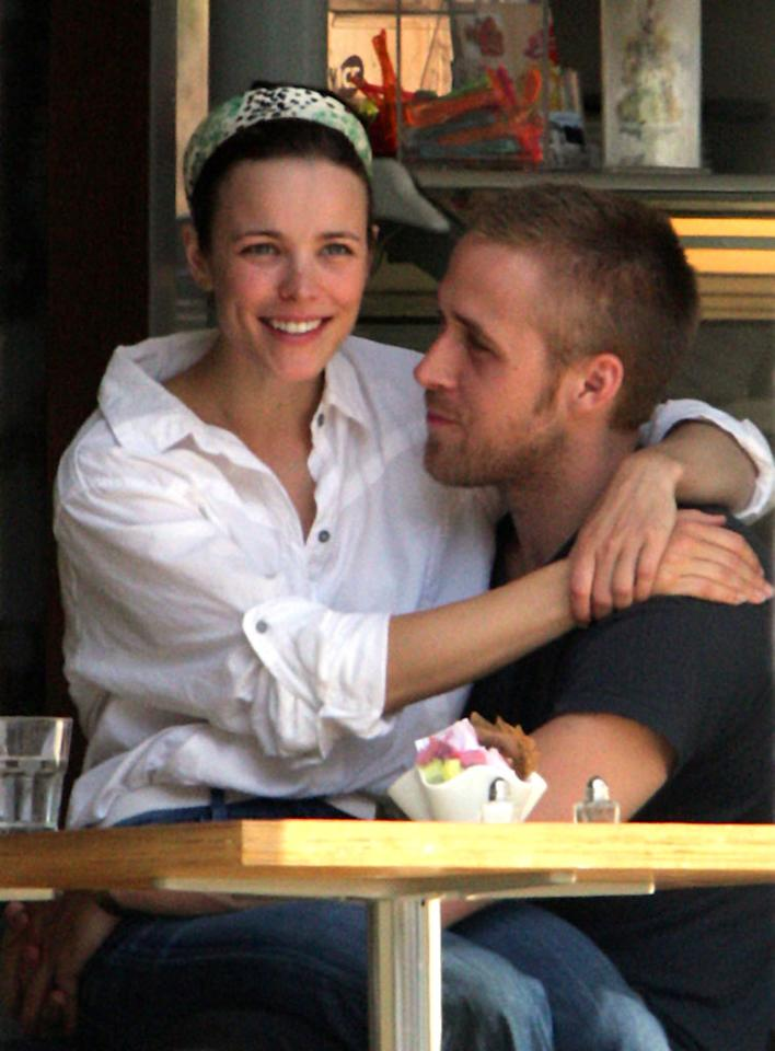 "Also reunited: Ryan Gosling and Rachel McAdams. The stars of ""The Notebook"" -- who split in 2007 -- were seen kissing and hugging in their native Canada last week. O'Neill, White/<a href=""http://www.infdaily.com"" target=""new"">INFDaily.com</a> - August 21, 2008"