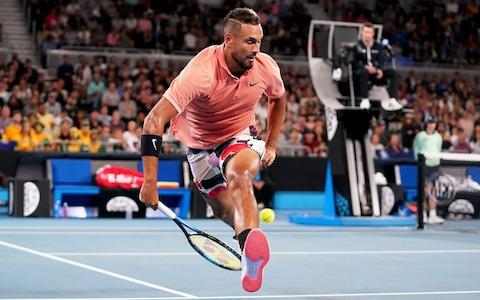 Kyrgios pulls out the trick shots - Credit: REX