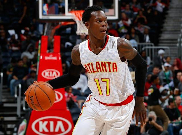 "<a class=""link rapid-noclick-resp"" href=""/nba/players/5187/"" data-ylk=""slk:Dennis Schroder"">Dennis Schroder</a> is expected to take another step this season. (Getty)"