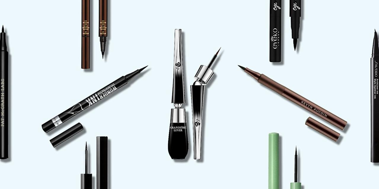 """<p>From Sophia Loren to Alexa Chung, some of the world's great beauties will be remembered for their timeless but bold cat-eye flick. And to create that look, the key tool is a good liquid liner. </p><p>Giving more precision and punchier pigment that a kohl liner, the liquid liner is an easy win to frame an <a href=""""https://www.elle.com/uk/beauty/make-up/news/a33786/best-eyeshadow-for-your-eye-colour/"""" target=""""_blank"""">eye look</a>, or create a simple look of its own. Well, in theory it's easy. But the application still evades some of us. Rimmel's Global Make-up Artist James Molloy recommends the 'slide and glide' technique. 'Hold the tip towards the inner eye, and slide the wand or pen with a bit of pressure along the lash line. Painting it on with the full brush and not just the tip of it means more control.'  When the shape is there, 'use the very tip to lightly create the flick at the outer corners.'</p><p>Of course the liquid eyeliner you choose makes a difference too. A brush might give a smoother line, but can be more fiddly. A felt-tip is often neater, but some can drag. Check out ELLE's top eyeliner picks below: highly pigmented, long-lasting, almost foolproof...</p>"""