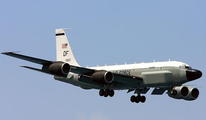 The US Air Force dispatched one of its missile-tracking spy planes to the area. Photo: Handout