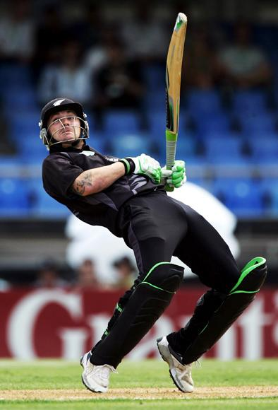 AUCKLAND, NEW ZEALAND - FEBRUARY 15: Brendon McCullum of New Zealand gets an edge on the ball to be caught behind during the third one day international match between the New Zealand Black Caps and England held at Eden Park February 15, 2008 in Auckland, New Zealand.  (Photo by Phil Walter/Getty Images) *** Local Caption *** Brendon McCullum