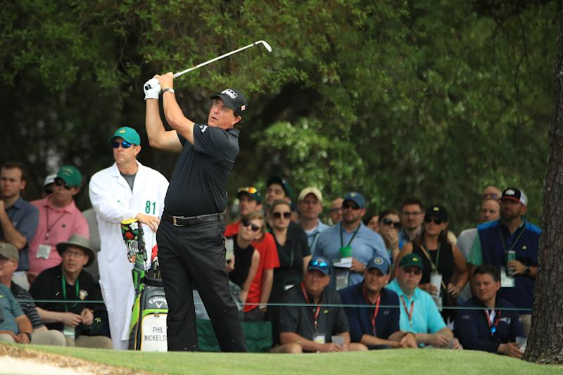 Phil Mickelson tied Patrick Reed and Shane Lowry for the low rounds of the day, five-under 67s, to vault into contention heading into Sunday.