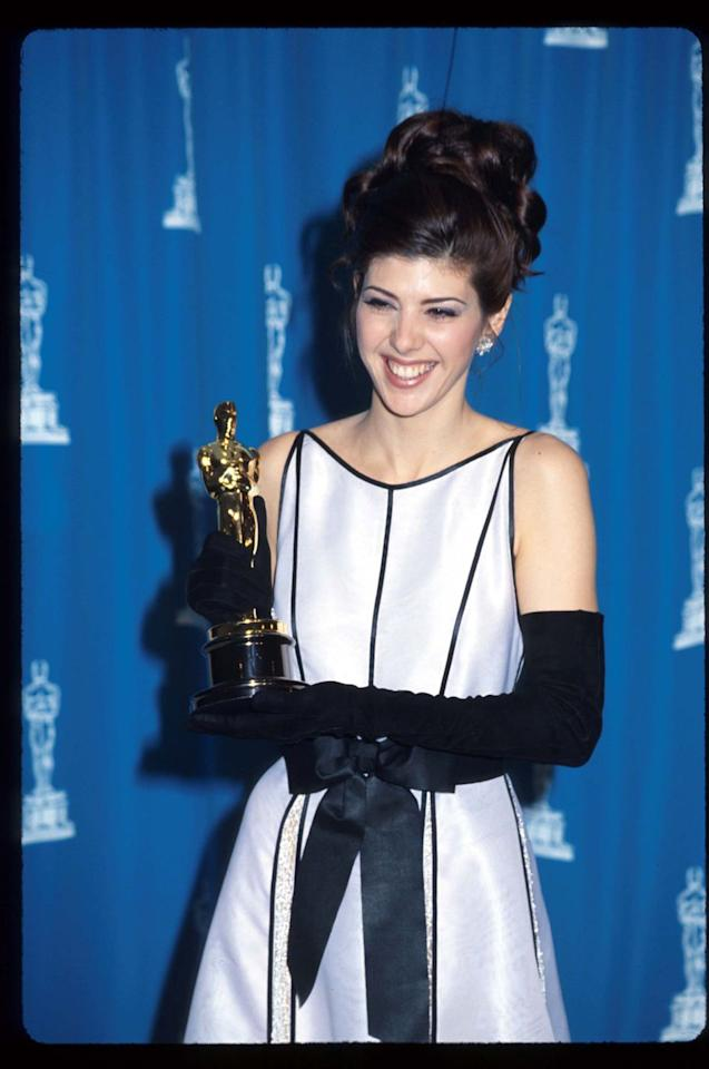<p>Comedy films don't always win big at the Academy Awards, but 1992 was different. Marisa Tomei won Best Supporting Actress for her role in <em>My Cousin Vinny</em>. </p>