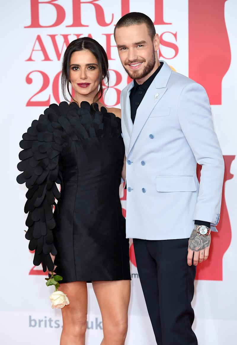 Cheryl and Liam Payne attend The BRIT Awards 2018 held at The O2 Arena on February 21, 2018 in London, England.