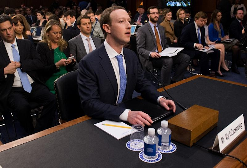 CEO Mark Zuckerberg has acknowledged that Facebook collects data beyond what users share on their profiles (AFP Photo/SAUL LOEB)