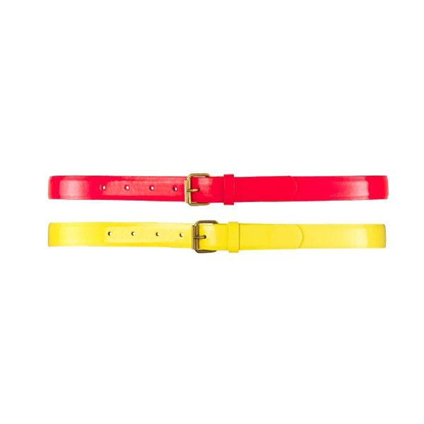 "<b><a target=""_blank"" href=""http://www.simplybe.co.uk/shop/patent-belt/aw217/product/details/show.action?pdBoUid=6882#colour:,size:"">Patent Neon Belts - £16 each – Simply Be</a></b><br><br>Cinch in a black skater dress with a neon belt to add pop of colour to your outfit."