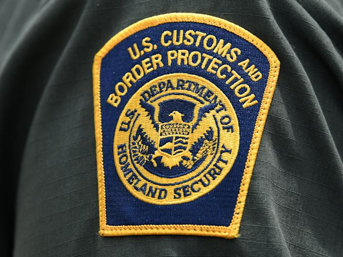 "FILE PHOTO: A U.S. Customs and Border Protection patch is seen on the arm of a U.S. Border Patrol agent in Mission <p class=""copyright"">Reuters</p>"