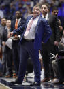 Auburn head coach Bruce Pearl reacts on the sideline during the first half of an NCAA college basketball game against South Carolina at the Southeastern Conference tournament Friday, March 15, 2019, in Nashville, Tenn. (AP Photo/Mark Humphrey)