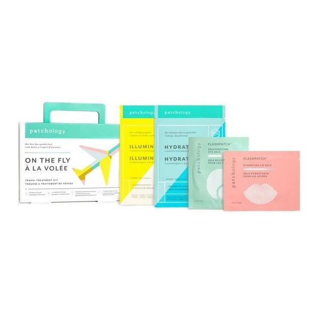 """<p>Soothe stressed skin with a four-pack of air-travel essentials from Patchology. The multitasking collection comes with <a href=""""https://www.allure.com/gallery/best-sheet-masks-for-every-budget?mbid=synd_yahoo_rss"""">sheet masks</a> designed to illuminate and hydrate, as well as rejuvenating eye and lip gels, so they're perfect to slide into the stocking of anyone staring down a redeye this holiday season.</p> <p><strong>$20</strong> (<a href=""""https://shop-links.co/1690272575653277164"""" rel=""""nofollow"""">Shop Now</a>)</p>"""