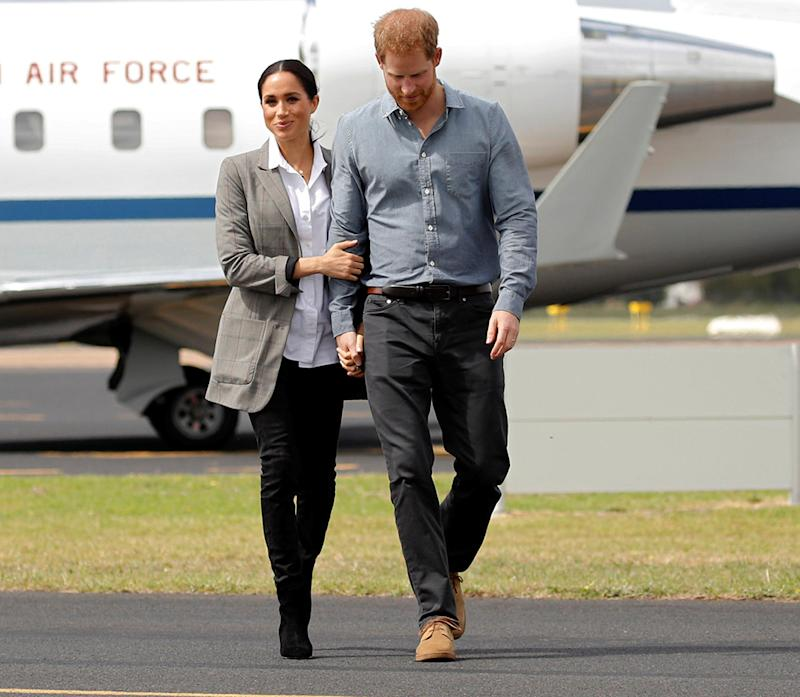 Meghan Markle Shows Off Baby Bump in Australia