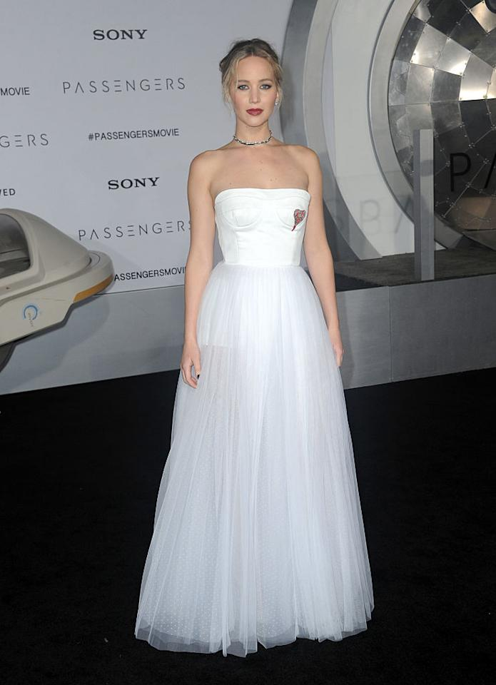 <p>The <i>Passengers</i> star on Dec. 14. (Photo: Getty Images) </p>