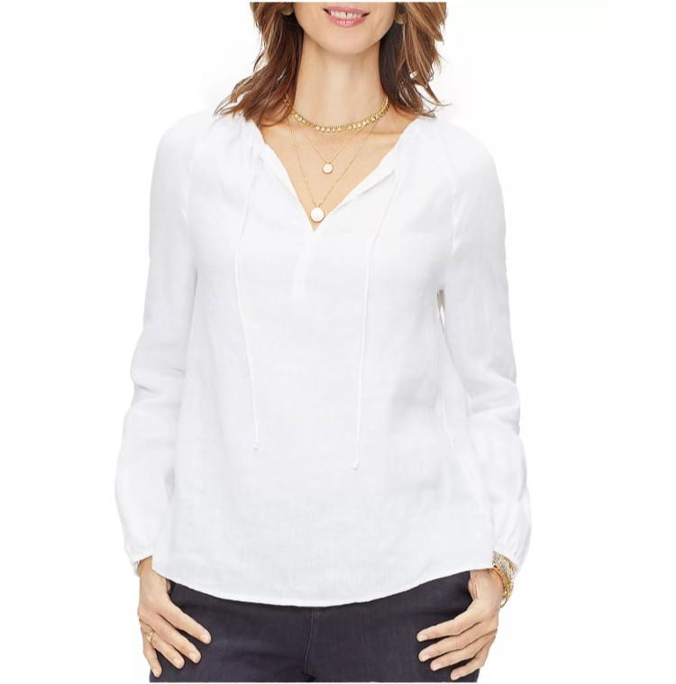 NYDJ Linen Peasant Top. (Photo: Bloomingdale's)