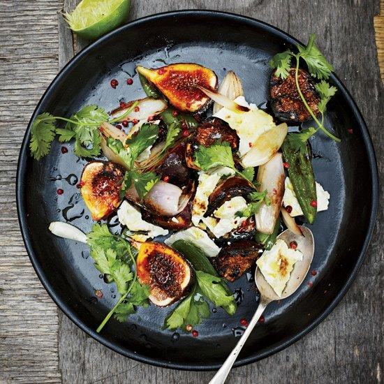 "<p>This is a fig lover's feast: Plump, juicy grilled figs are paired with a quick fig jam made from dried figs, red wine and ancho chile.</p><p><a href=""https://www.foodandwine.com/recipes/fresh-fig-salad-with-feta-and-blistered-jalapenos"">GO TO RECIPE</a></p>"