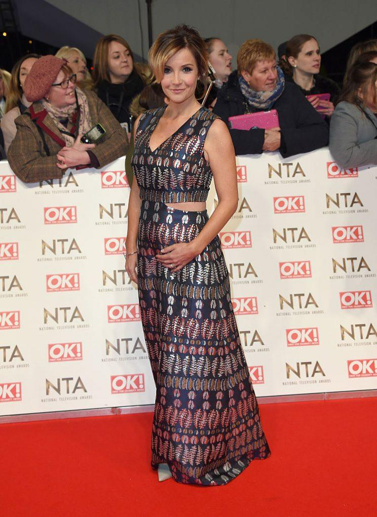 Helen showed off her growing bump at the National TV Awards [Photo: Getty]