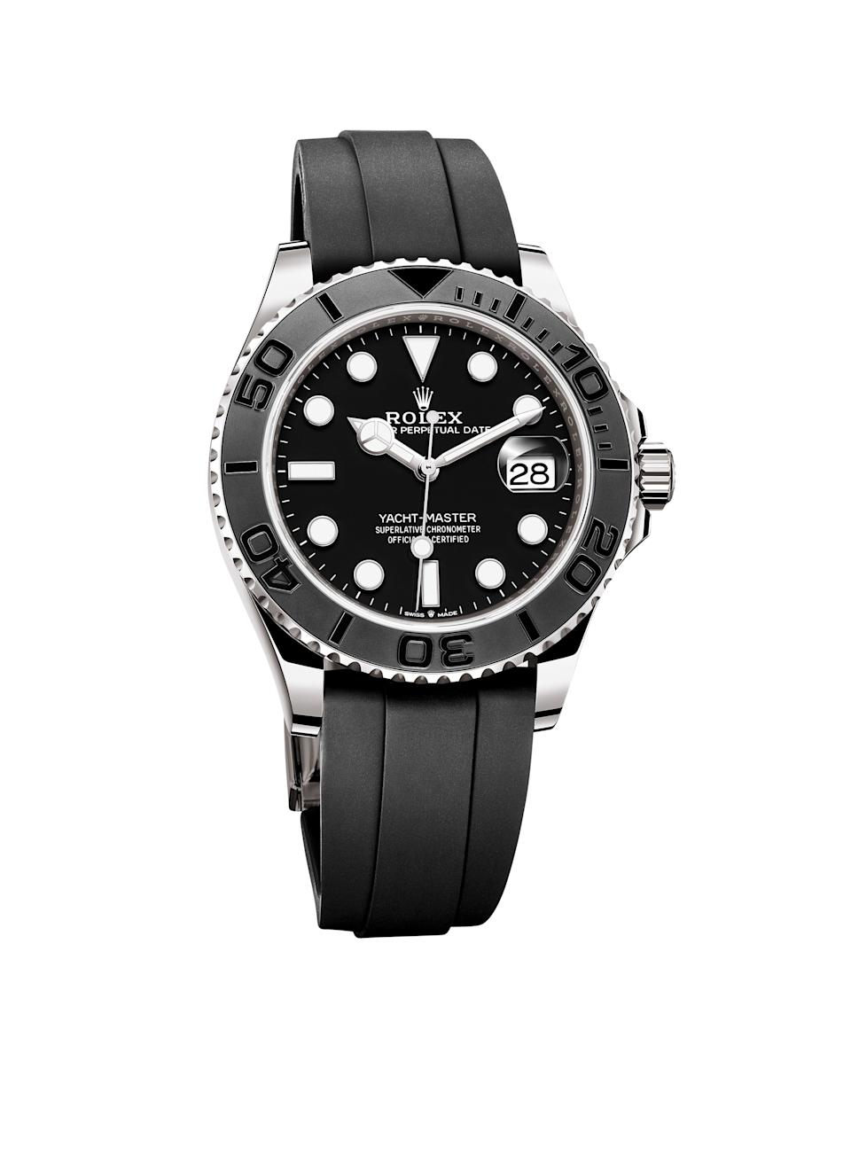 Rolex oyster perpetual yacht-master watch; $27,800. rolex.com