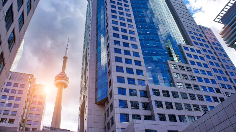 Toronto financial district skyline