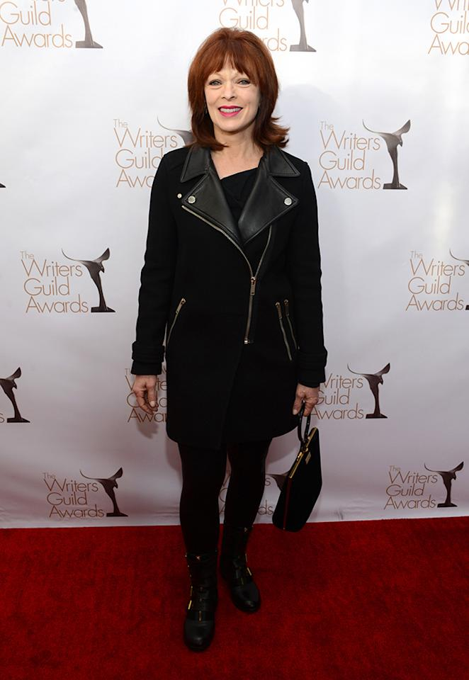 Frances Fisher arrives at the 2013 WGAw Writers Guild Awards at JW Marriott Los Angeles at L.A. LIVE on February 17, 2013 in Los Angeles, California.  (Photo by Jason Kempin/Getty Images for WGAw)