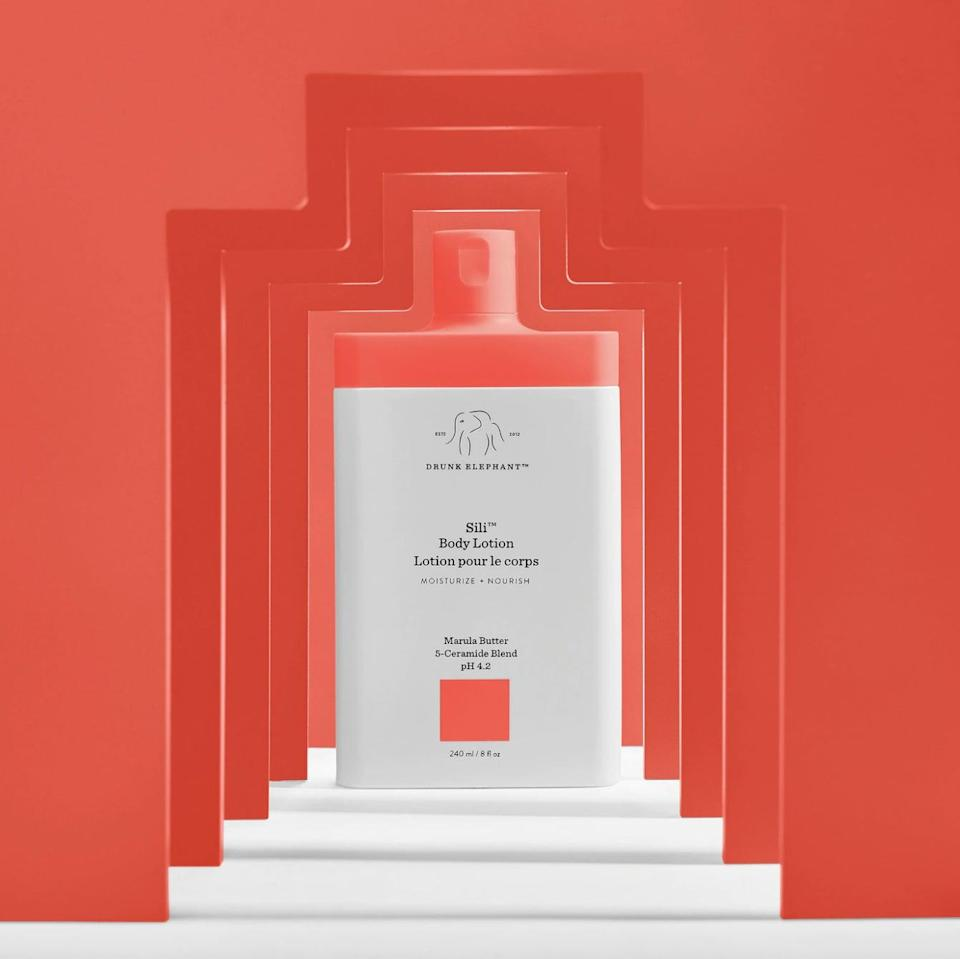<p>I'm a big fan of the brand's entire body line, but the one products I make sure to never be out of stock of is the <span> Drunk Elephant Sili Body Lotion </span> ($20). There's something about this lotion that my skin just loves and soaks up. I apply it after the shower, and I always feel so hydrated and fresh after. I even find myself applying it to my hands throughout the day. It has a light, yet interestingly nostalgic smell that I can't get enough of.</p>