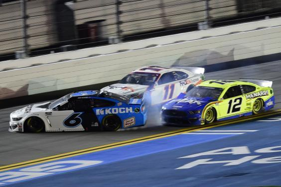 Newman was spun into the wall by the No 12 of Ryan Blaney (Getty)